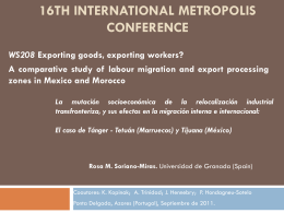 16th international metropolis conference