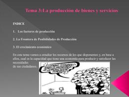 Tema 3 La producción de bienes y servicios Diapositivas