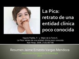 La Pica: retrato de una entidad clínica poco conocida