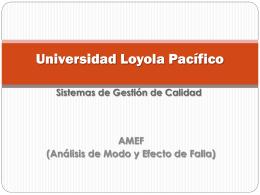 AMEF - Sistemasdegestiondecalidad