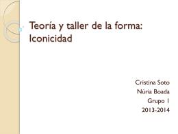 Teoría y taller de la forma: Iconicidad