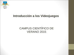 1 – Introduccion A Los Videojuegos