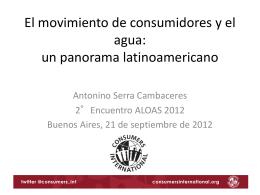 Presentación - Consumers International