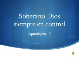 Soberano Dios siempre en control