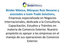 servicios comercio exterior BINDER