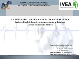 La Eutanasia, un tema a Debatir en Venezuela