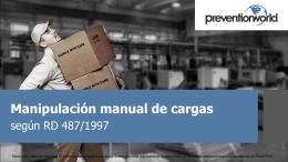 La manipulación manual de cargas