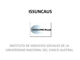 issuncaus - Instituto de Servicios Sociales - UNCAus