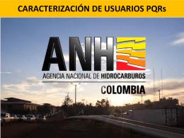 caracterización de usuarios -anh - Agencia Nacional de Hidrocarburos