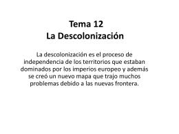 1. La descolonización - 4AB-IESLlanes