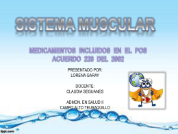 MEDICAMENTOS DEL SISTEMA MUSCULAR