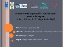 hacia un nuevo enfoque de la cooperación internacional
