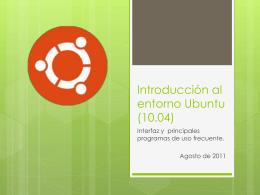 Introducción al entorno Ubuntu (10.04)