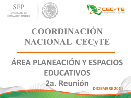 Presentación - Coordinación Nacional CECyTE