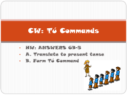 PPT Tu Commands