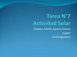Tarea N°7 Actividad Solar