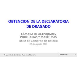 OBTENCION DE LA DECLARATORIA DE DRAGADO