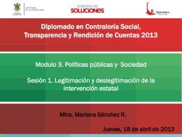 Módulo III-Políticas Públicas-Sesión I