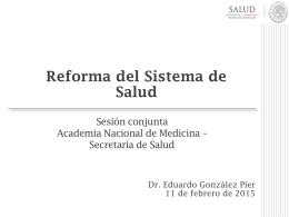 Dr. Eduardo González Pier - Academia Nacional de Medicina