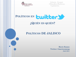 Políticos en ¿Quién es quién? - Colegio Estatal de Estudios