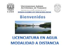 Licenciatura en Agua en Modalidad a Distancia