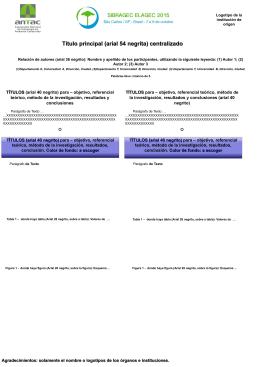 TÍTULOS (arial 40 negrito) para – objetivo, referencial teórico