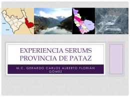 EXPERIENCIA SERUMS PROVINCIA DE PATAZ