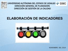 Presentación indicadores - Universidad Autónoma del Estado de