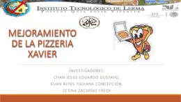 INVESTIGACIÓN DE MERCADO PIZZAS XAVIER