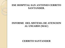 Diapositiva 1 - ESE Hospital San Antonio