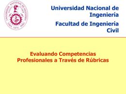 Diapositiva 1 - Acreditación Internacional ABET de la Facultad de