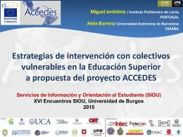 ACCEDES Burgos 2015 SIOU Miguel Jeronimo Aleix Barrera