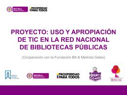 Uso y apropiación de TIC en la Red Nacional de Bibliotecas Públicas