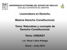 Naturaleza y concepto de Derecho Constitucional