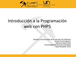 Introducción a la Programación web en PHP