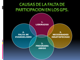 1.4 Causas De Falta De Participacion En Los GPS