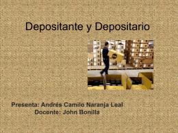 Responsabilidades Del Depositante y Depositario