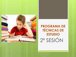 Programa de Técnicas de Estudio 2