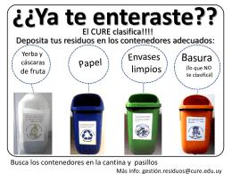 folletos residuos CURE