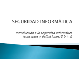 Semana 2 - Introdución a la Seguridad Informática