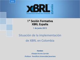 Situación de la Implementación de XBRL en Colombia