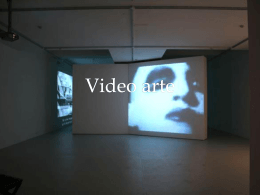 Video arte - arte-estetica