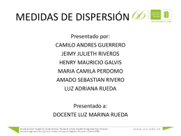3-Medidas de dispersion