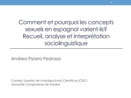 Recueil, analyse et interprétation sociolinguistique