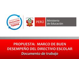 MARCO DE BUEN DESEMPEÑO DEL DIRECTIVO