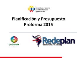 Tema 8. Planificacion y presupuesto proforma 2015