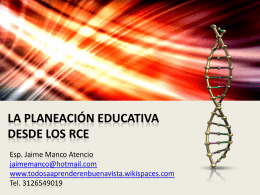 planeación educativa - Todos a Aprender en Buenavista Córdoba