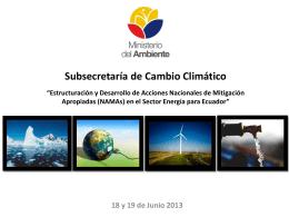 (NAMAs) en el Sector Energía para Ecuador