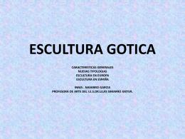 ESCULTURA GOTICA - IES Dr. Lluís Simarro
