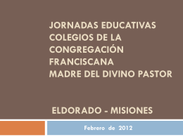 Misiones - Franciscanas